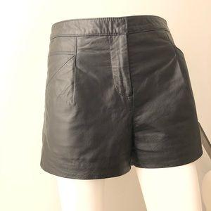 ASOS leather shorts